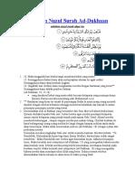 Asbabun Nuzul Surah 44-47
