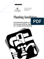 Plumbing Installation Single Dwelling