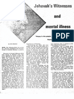 Jehovah's Witnesses and  Mental Illness by John Stedman