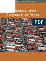 Regularization of Informal Settlements in Latin America