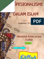 Profesionalisme Dalam Islam