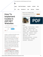 How to Implement Cookie in ASP.net