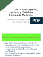 Alcances de la Investigación, Hipótesis y Variables.pptx