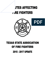 Texas Firefighter 2015-2017 Statute Book