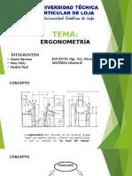 Exposición de Ergonometria para el uso del baño con medidas antropológicas latinoamericanas