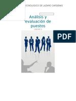 Análisis y Evaluación de Puestos UNIDAD 5