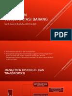 Manajemen Transportasi Barang