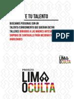 Texto Promocional – Lima Oculta