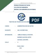 GESTION DE TRAMITE DE DOCUMENTOS