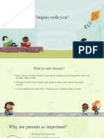 early literacy begins with you