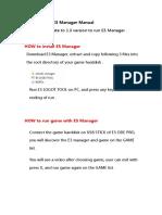 E3 Manager v1.0 Manual