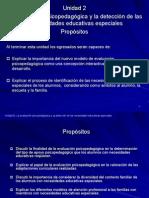 Evaluacion psicopedagógica y detección de Necesidades Educativas Especiales (NEE)