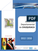 PLAN de Desarrollo  Departamental de CHUQUISACA  2012-2016
