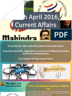 24 April 2016 Current Affair for Competition Exams