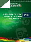 Subsistema de educación Formail Boliva 2016