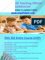 ENG 302 AID Teaching Effectively Eng302aiddotcom