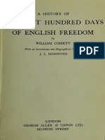 A History of the Last Hundred Days of the English Freedom, William Cobbett