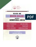 Teste Bio Admitere Medicina 2016