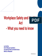 Workplace Safety and Health