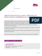Grève SNCF 26 Avril