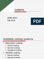 EMBA 5403 Costing Systemsjnjsnjdn