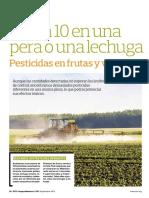 Pesticidas en Frutas y Verduras