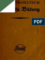 Ernst Troeltsch Deutsche Bildung (1909)