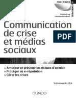 Communication de crise et médias sociaux