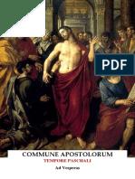 VISPERAS GREGORIANAS COMUN DE APOSTOLES -  TIEMPO PASCUAL