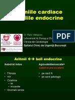 Aritmiile Cardiace in Endocrinologie 2016