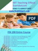 FIN 200 CART Teaching Effectively Fin200cartdotcom