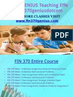 FIN 370 GENIUS Teaching Effectively Fin370geniusdotcom