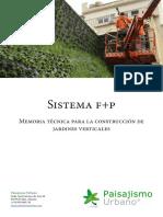 Sistema F+P para Jardines Verticales