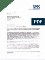 ORR Response April 2016