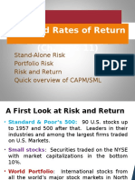 VI Risk and Rates of Return