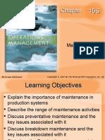 operations mainteance