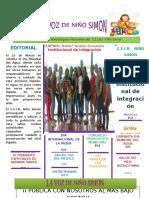 Periodico Escolar Marzo NIÑO SIMON