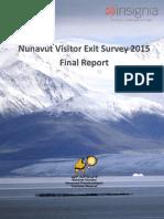 Nunavut Tourism 2015 Visitor Report