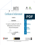 brite certificate screenshot