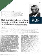 Het Marxistisch Socialisme Als Hoogste Stadium Van Kapitalisme, Imperialisme en Fascisme