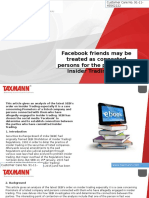 Facebook Friends May Be Treated as Connected Persons for the Purposes of Insider Trading