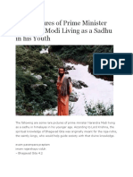 Rare Pictures of Prime Minister Narendra Modi Living as a Sadhu in His Youth
