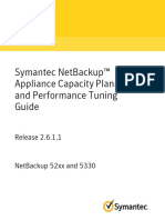 NetBackup 52xNetBackup 52xx and 5330 Appliance Capacity Planning and Performance Tuning Guide x and 5330 Appliance Capacity Planning and Performance Tuning Guide - 2.6.1.1