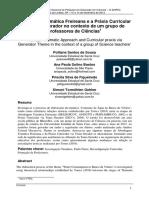 Abordagem Temática Freireana e a Práxis Curricular via Tema Gerador no contexto de um grupo de professores de Ciências