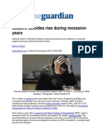 Student Suicides Rise During Recession Years - Guardian Handout