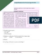 exercices de comprehension ecrite a2+b1