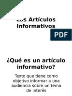 ppt articulos informativos