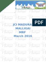 JCI Madurai Malligai MRF Mar 2016