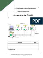 Laboratorio 02 - Comunicacion RS 485 - I