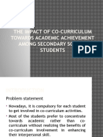 The Impact of Co-curriculum Towards Academic Achievement Among 2
